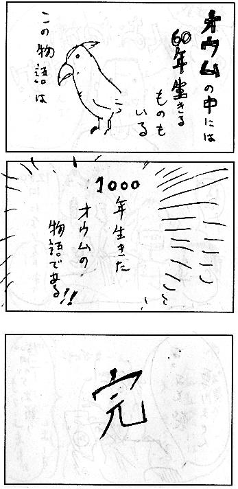1000年生きたオウム