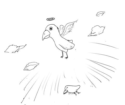 天に召された鳥