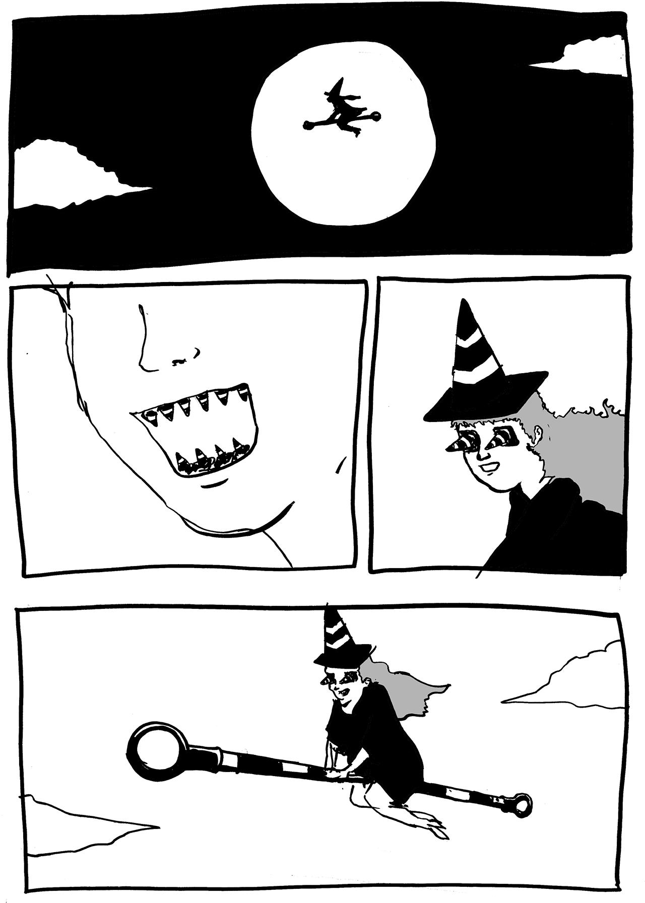 魔女(工事現場)